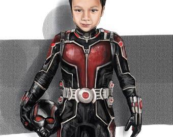 custom children portrait (superhero style)
