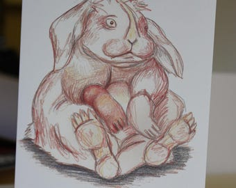 Easter Bunny- greetings card