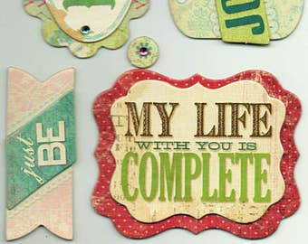 Family Life Quotes K&Company Chipboard Stickers Scrapbook Embellishments Cardmaking Crafts