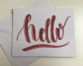 "Greeting Card: ""Hello"""