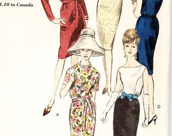 Vintage Vogue 60s Dress Pattern Size 16 Bust 36//Vogue 5997//Mad Men Dress//Jackie Kennedy Style