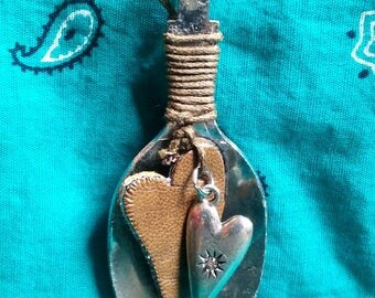 Spoon and Heart Necklace