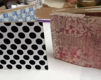 2 Paperbag Albums Black Pokadots And Floral Albums