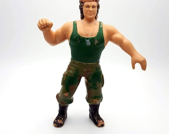 "Vintage Corporal Kirchner Action Figure Titan Sport Inc. 1985 LJN wwf Rubber Wrestlers Wrestler Action Figure Titan Sports wwe 8"" Army"