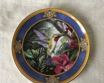The Franklin mint heirloom reccomendation, Faberge Ruby throated Hummingbird, limited edition.
