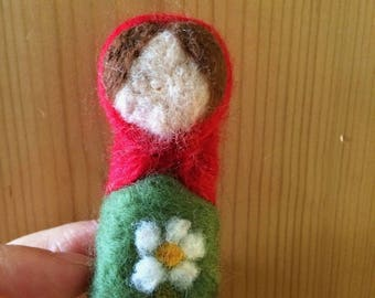 Felted little maiden woman