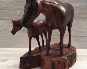 Horse Ironwood Carving