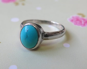 Turquoise Ring, 925 sterling silver, Turquoise, december birthstone, Turquoise blue, gemstone ring, birthstone jewelry, birthstone ring