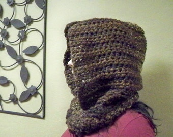 Wool Blend Crochet Bobble Hood infused with Reiki