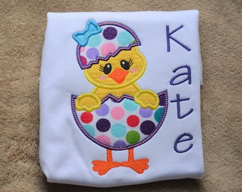 Spring Chick Shirt - Girl Easter Shirt - Personalized Easter Shirt