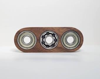 Trio Walnut Fidget Spinner - Wood Fidget Spinner - Hardwood
