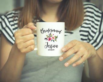 Bridesmaid Mug, Bridesmaid Gift, Personslized Mug, Bridesmaid, Coffee Mug, Wedding Gift, Bridesmaid Proposal, Wedding Mug, Bridal Party Gift