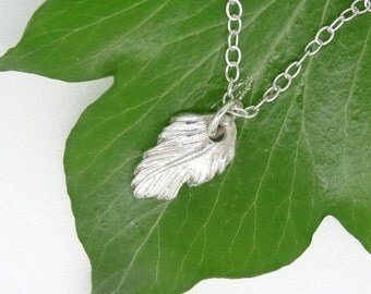 Silver Feather Necklace,Pure Silver Feather Pendant,Feather Charm,Sterling Silver Chain,Feather,Silver Feather Charm,Birthday Gift,Handmade