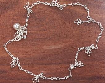 Sterling Silver Anklet, Silver floral Anklet, Silver Anklet, Sterling Silver Charms, Fashion Jewellery, Anklet, Flower Charm Anklet