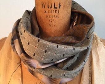 Reclaimed Necktie Silk Cowl Scarf