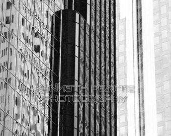 Modern black and white architectural photography. Charlotte print #2.