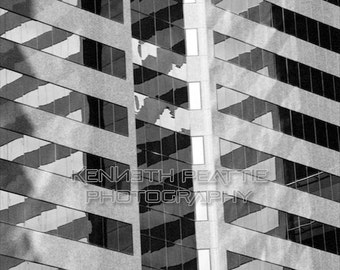 Modern black and white architectural photography. Charlotte print #4.