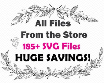 All SVG files in the Shop- SALE svg collection- Silhouette Cameo, Cricut files- svg bundle, vinyl projects- Cutting files- Savings, Digital