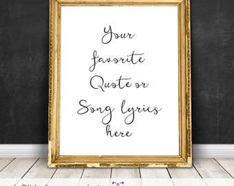 Song Lyric Wall Art wedding song lyrics | etsy