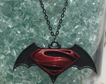 Superman Vs Batman Pendant Necklace
