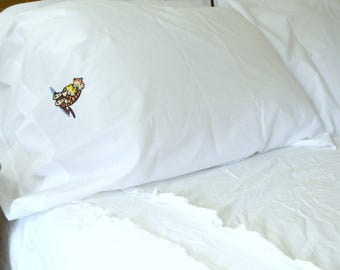 Calvin and Hobbes Embroidered Pillowcase
