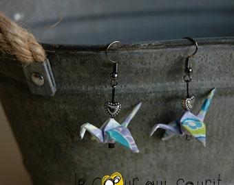 (Crane) - G019 origami earrings