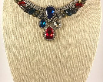 Colorful gems - Statement Necklace