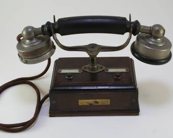Antique 1880 French Phone-Antique Telephone -19th Century Phone