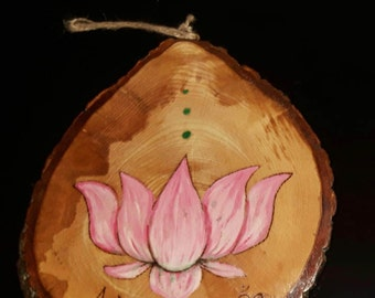 Lotus flower, namaste sign/ plaque