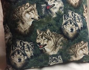 Wolves!!  Pillow 14 x 14 (#005)