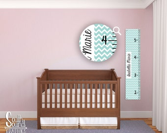 Kids Growth Chart   Boy Or Girl Room Wall Decor   Chevron Wall Hanging    Childrenu0027s