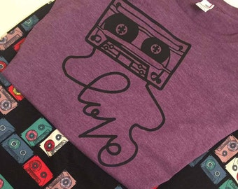 Mix Tape Love Shirt - ladies