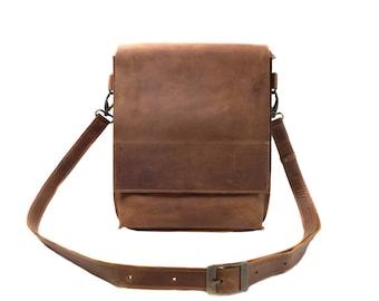 Men Leather Bag Leather Crossbody Modern Bag Leather Messenger Work Bag Everyday Bag Notebook Bag Shoulder Bag For Men Brown Leather Bag