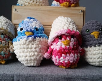 Egg shell chicks / chick stuffed wool with their shell / egg surprises with chicks / wool chick egg toy