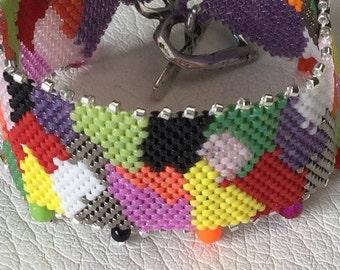 Bracelet woven in Delicas 11/0