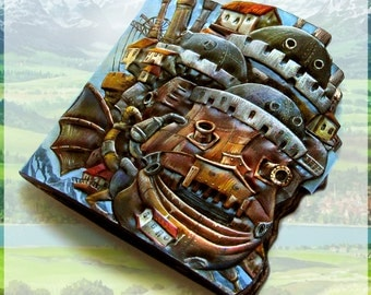 Leather wallet Howl's Moving Castle, Howl no Ugoku Shiro