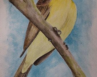 Watercolor on cotton paper, original, single copy work.