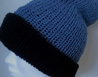 Blue cap with Navy Blue reverse