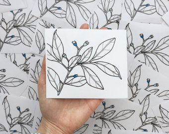 Botanical Clear Sticker