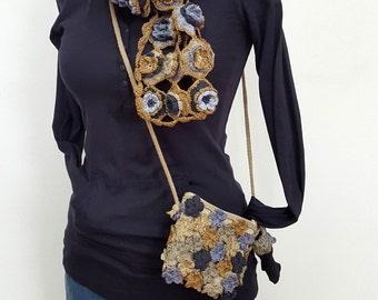 Crochet Flower Scarf, Crochet Scarf Flower, Multi-Layer Flowers, Scarf Handmade Scarf, Fair Trade Scarf, Fair-Trade Scarves, Spring scarf