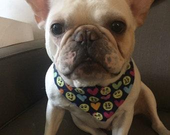 Mixed Emojis CUSTOM MADE Dog or Cat Bandana