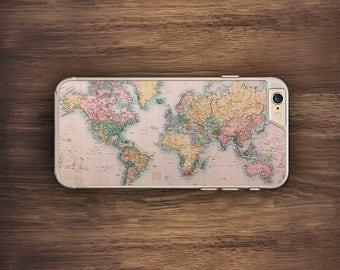 Vintage World Map iPhone Case Wanderlust Travel, Nerdy, Novelty iPhone 6 Case iPhone 6S Case iPhone 5S Case iPhone 5 Case iPhone 5C Case