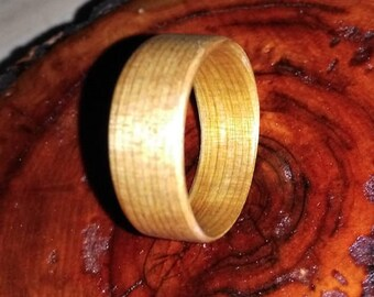 Wood Ring Elm Bentwood, Mens Wedding Band, Mens Wood Ring, Wooden Wedding Band, Womens Wood Ring, Wood Engagement Ring, Wood Anniversary