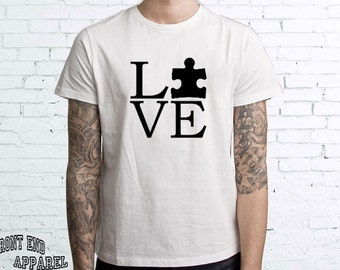 Autism Awareness Puzzle Piece T-shirt shirt Tee Autistic Support Educate Advocate Love Autism Awareness Month April Spectrum FEA134