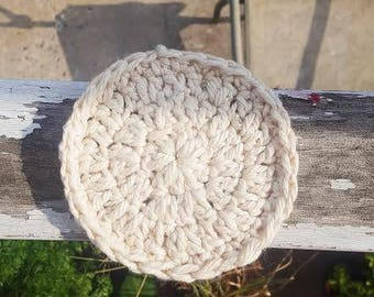 Set of 4 Coasters // Natural // Home Decor // Crochet