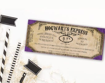 Harry Potter Birthday Invitation | Harry Potter Invitation | Harry Potter Party Invitation | Hogwarts Birthday | Hogwarts Baby Shower