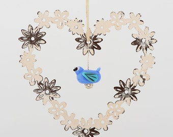 Bird Heart Hanger