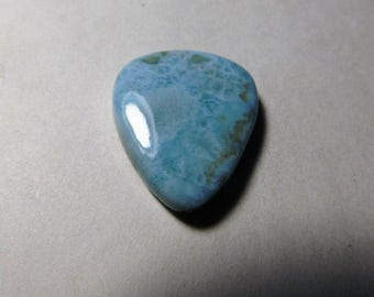 AAA+ quality ! Natural new   Larimar  domanican  cabochon    loose  gems  stone  pear    shape  cabochon size 42 ct  32x25x6