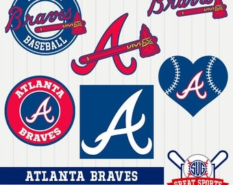 Atlanta Braves SVG, Atlanta Baseball Clipart, Atlanta Braves DXF, Baseball Clipart, Braves Clipart, Clipart SVG, mb-09