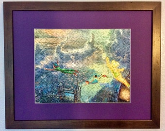 Disney Kinkade Framed/Assembled Puzzle Art - Peter Pan